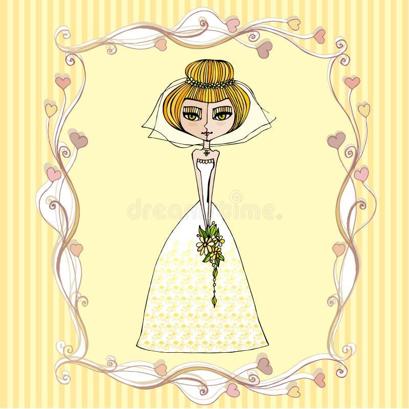 Illustration de belle mariée illustration libre de droits