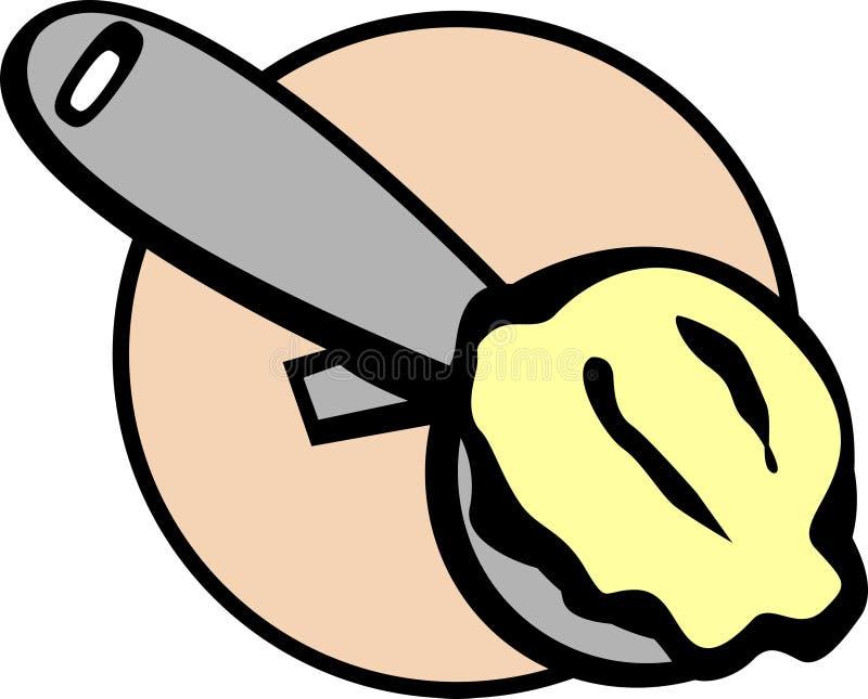 Illustration de bille d'épuisette de crême glacée de vecteur illustration libre de droits