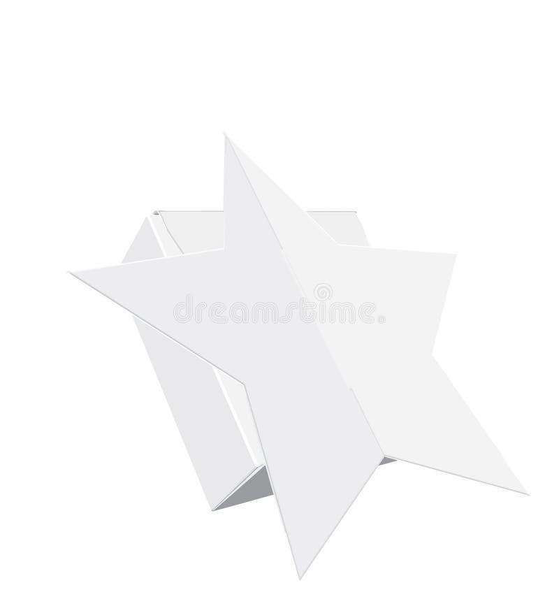 Illustration de boîte-cadeau, vecteur Boîte à sucrerie, anniversaire, boîte de papier Moquerie blanche, claire, vide, d'isolement illustration de vecteur