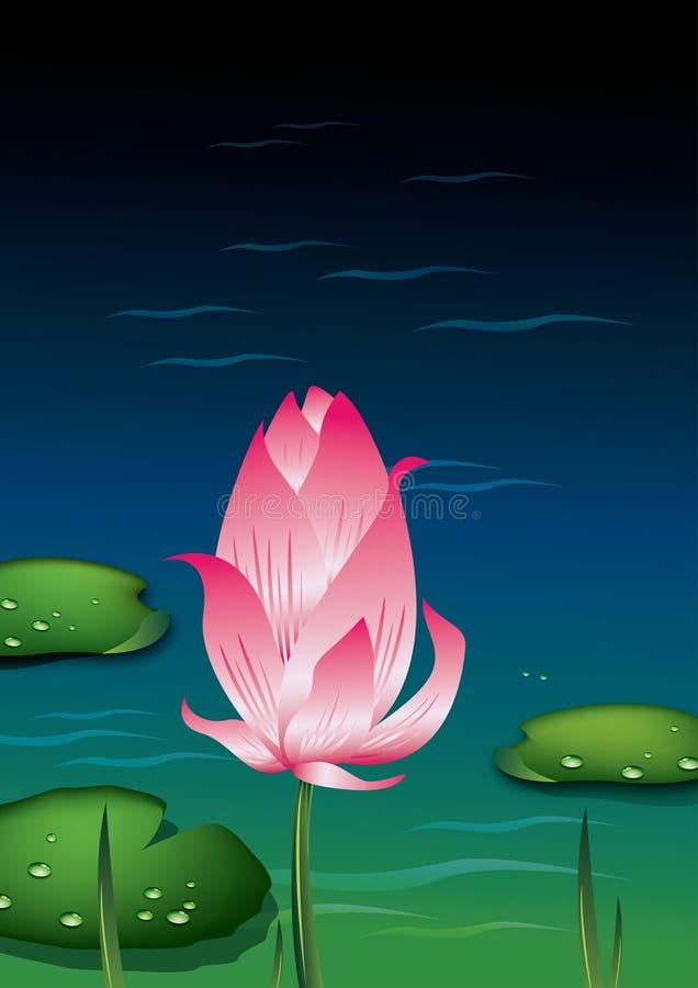Illustration de bourgeon de lotus illustration de vecteur