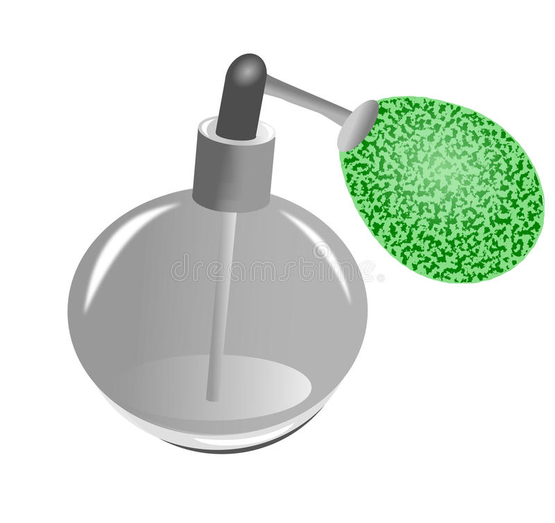 Illustration de bouteille de parfum illustration stock