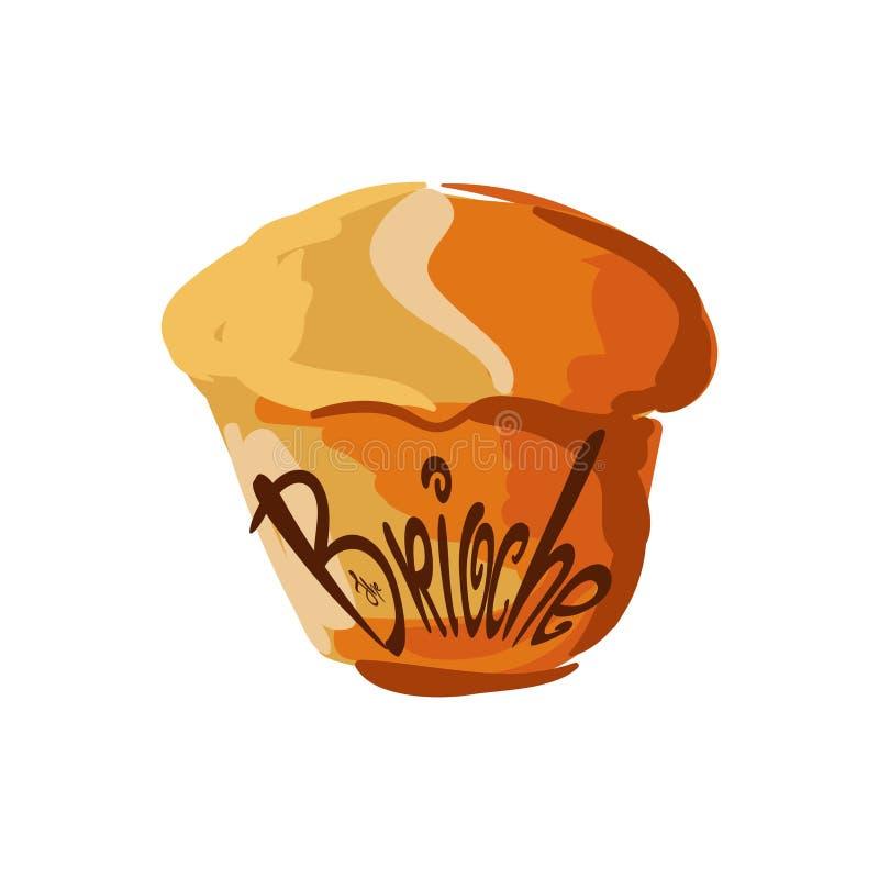 Illustration de brioche pour le menu, cartes, modèles, papier peint Logo de brioche illustration libre de droits