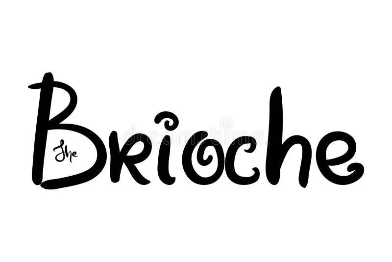 Illustration de brioche pour le menu, cartes, modèles, papier peint Logo de brioche illustration de vecteur