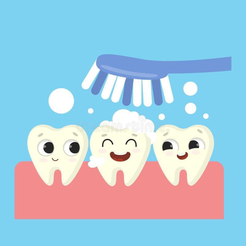 Illustration de brossage de dents illustration de vecteur