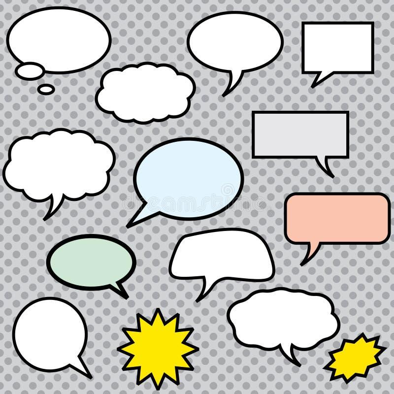 Illustration de bulles de la parole de bandes dessinées de vecteur illustration de vecteur