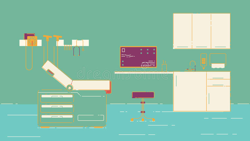 Illustration de bureau du docteur s illustration libre de droits