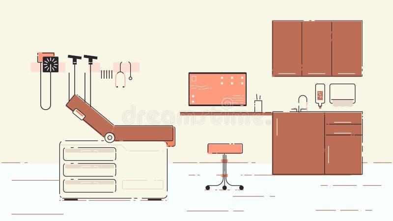 Illustration de bureau du docteur s illustration stock