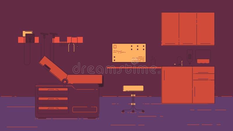 Illustration de bureau du docteur s illustration de vecteur