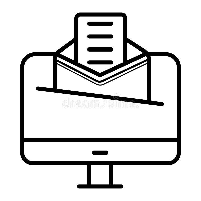 Illustration de bureau de vecteur d'email d'icône illustration stock