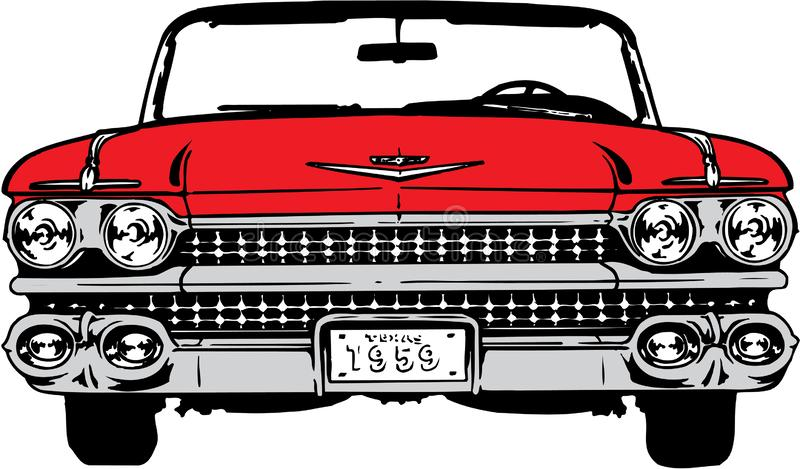 Illustration 1959 de Cadillac illustration stock