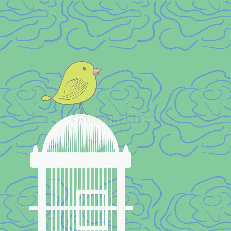 Illustration de cage d'oiseau illustration libre de droits