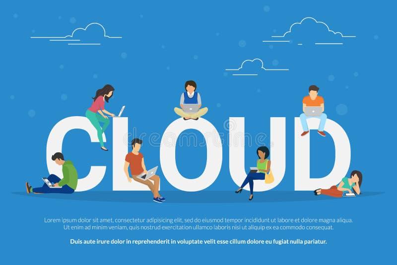 Illustration de calcul de concept de nuage illustration de vecteur
