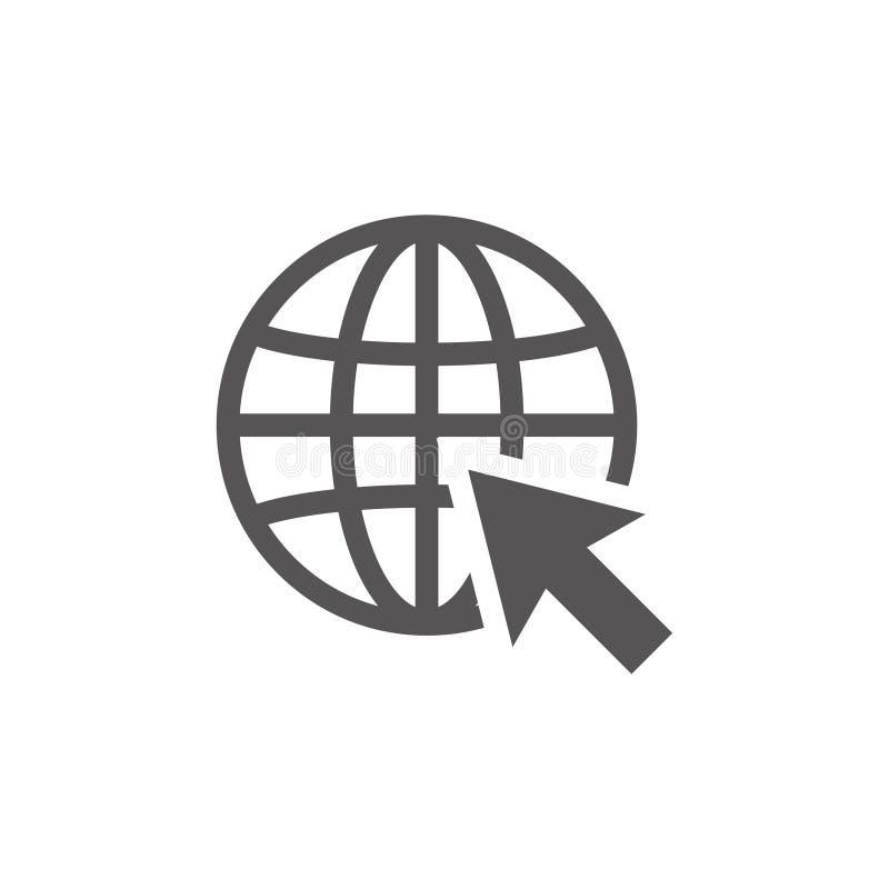 Illustration de calibre de conception d'icône de World Wide Web illustration libre de droits