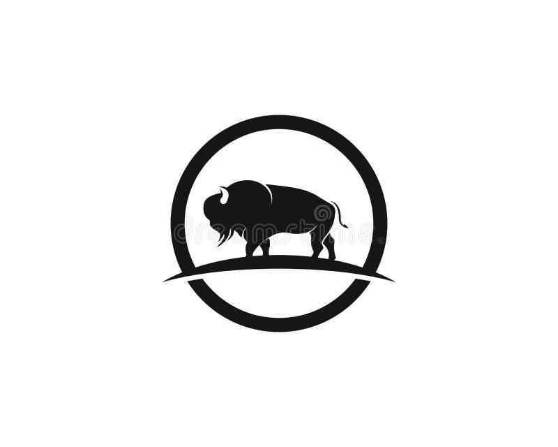 Illustration de calibre de vecteur d'icône de logo de bison illustration libre de droits