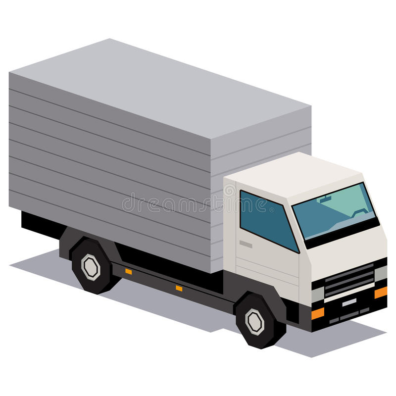 Illustration de camion de livraison d'isolement sur le fond blanc illustration de vecteur