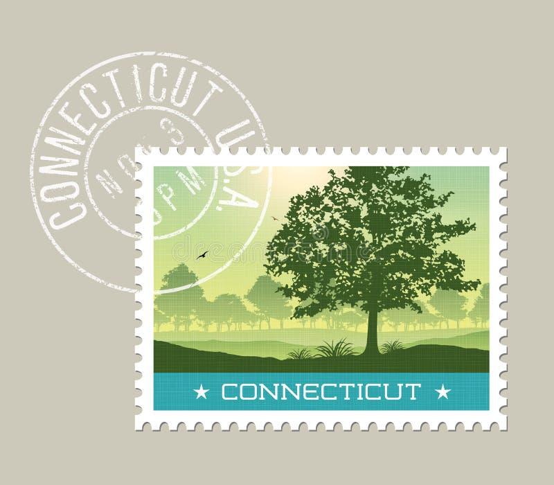 Illustration de campagne scénique du Connecticut illustration libre de droits