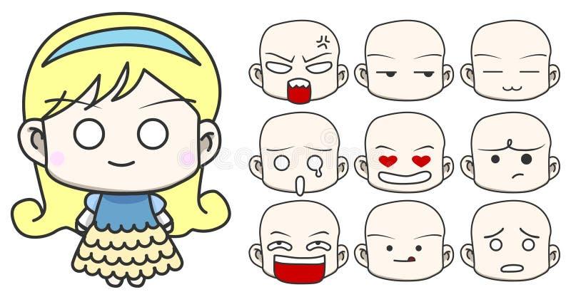 Illustration de caractère de fille de vecteur illustration stock