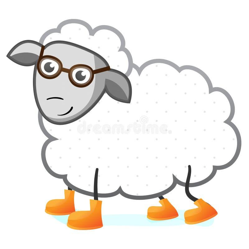 Illustration de caractère de moutons illustration libre de droits
