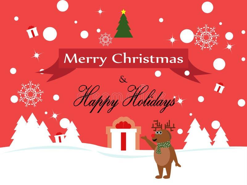 Illustration de caractères de Noël de renne de Joyeux Noël photographie stock libre de droits