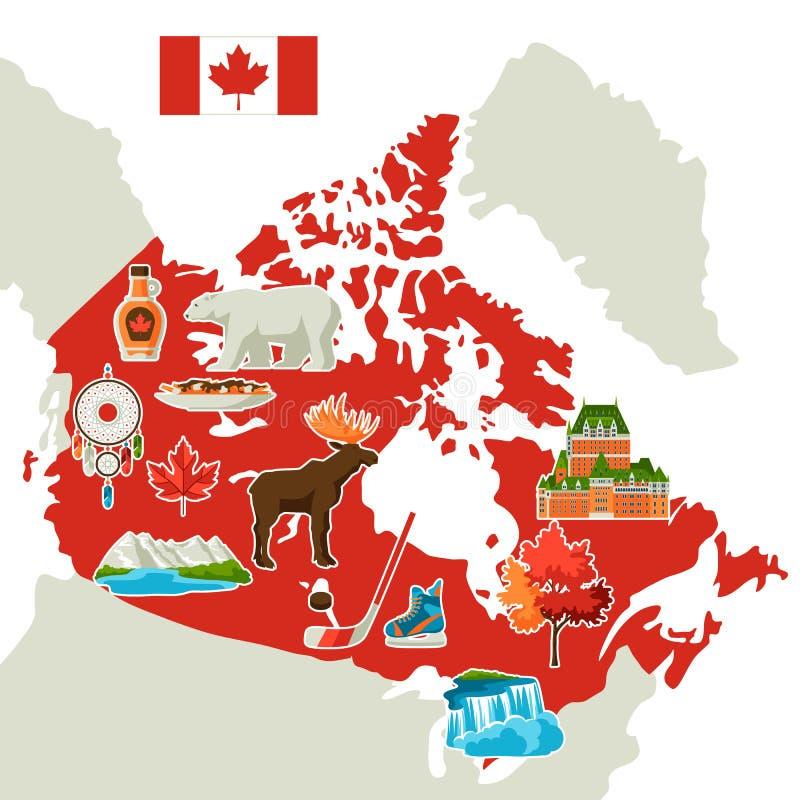 Illustration de carte de Canada illustration stock