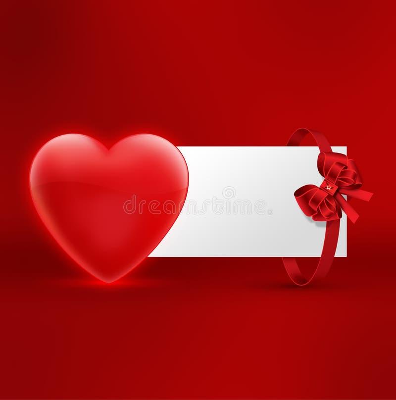 Illustration de carte postale de jour de valentines illustration de vecteur