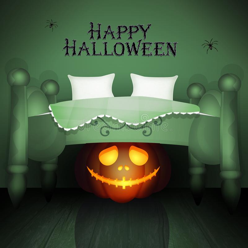 Illustration de carte postale de Halloween illustration stock