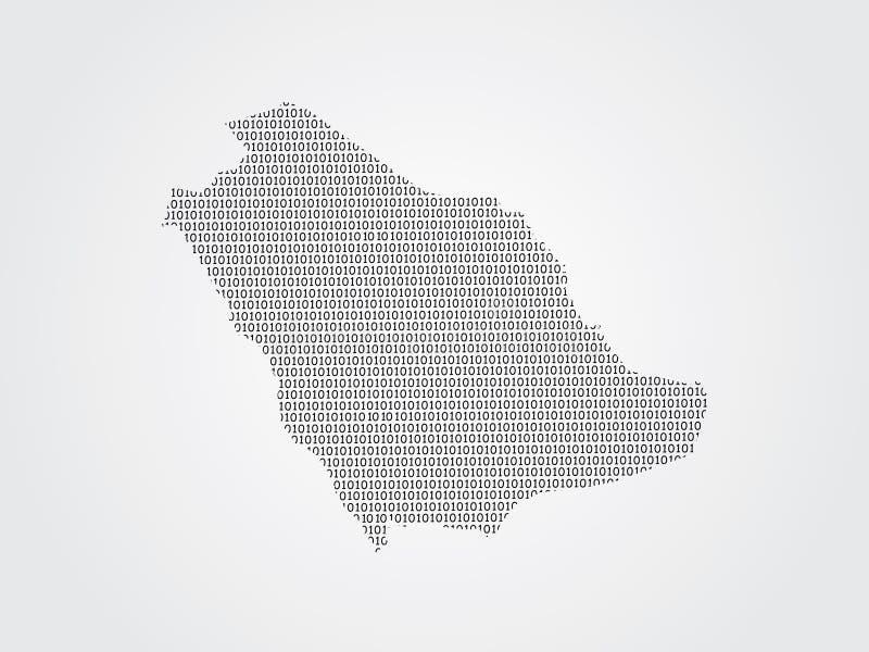 Illustration de carte de vecteur de l'Arabie Saoudite utilisant des codes binaires sur le fond blanc pour signifier l'avancement  illustration stock