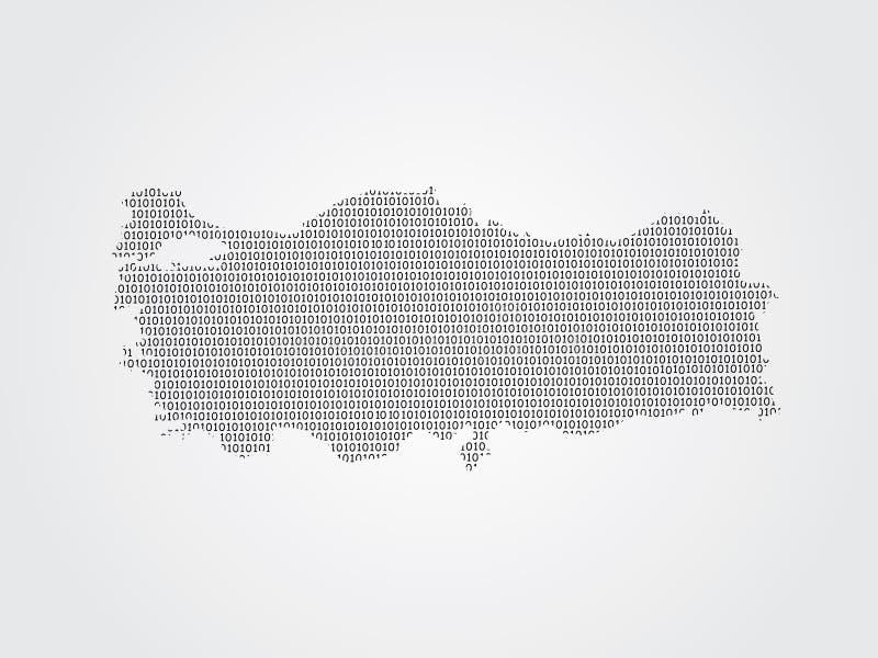 Illustration de carte de vecteur de la Turquie utilisant des codes binaires sur le fond blanc pour signifier l'avancement de la t illustration stock