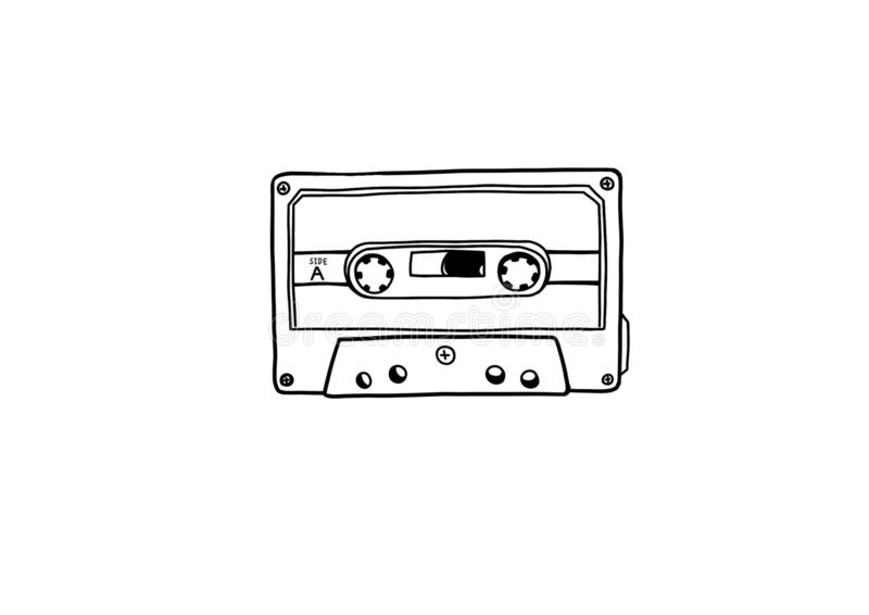 Illustration de cassette illustration stock