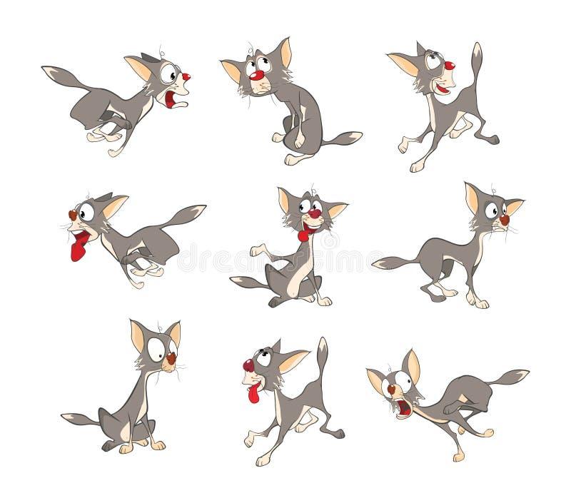 Illustration de Cat Cartoon Character mignonne illustration libre de droits