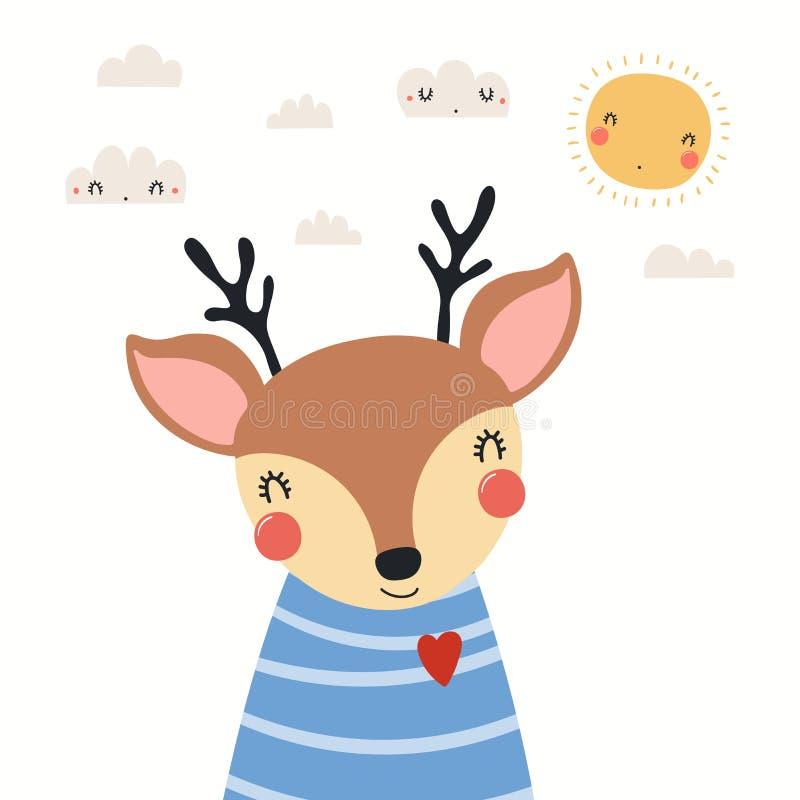 Illustration de cerfs cuits illustration libre de droits