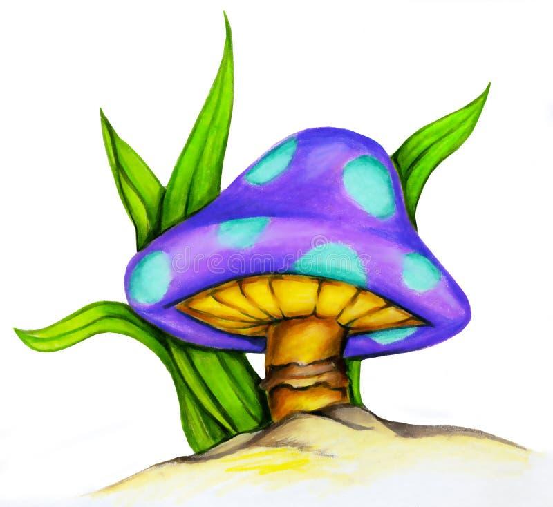 Illustration de champignon de couche illustration libre de droits
