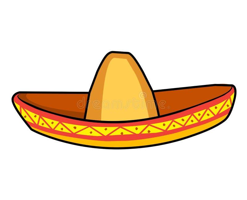 Illustration de chapeau de paille de sombrero illustration libre de droits