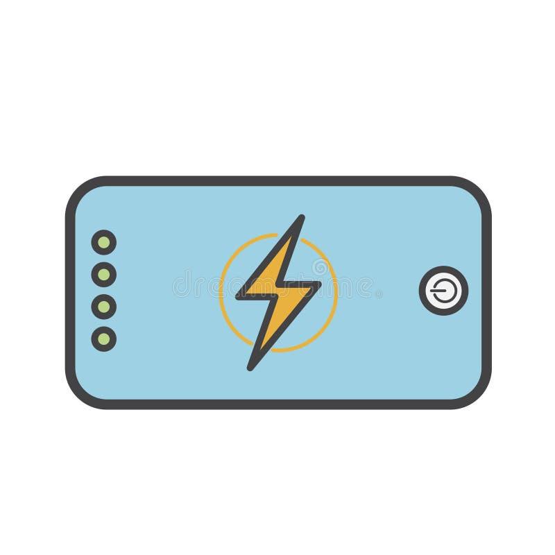 Illustration de chargeur de batterie de banque de puissance illustration libre de droits