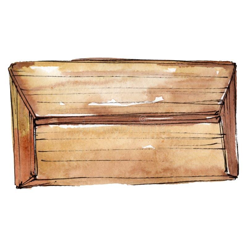 Illustration de charme de croquis de sac d'embrayage dans un élément d'isolement par style d'aquarelle Ensemble pour aquarelle de photos libres de droits