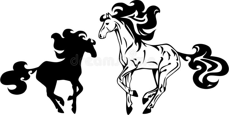 Illustration de cheval illustration stock
