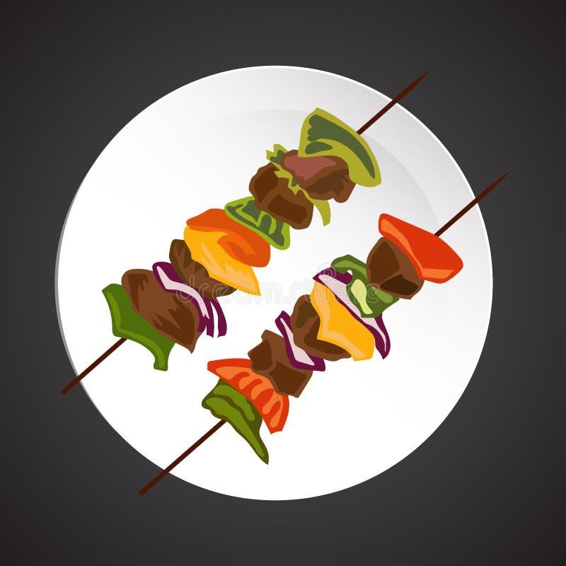 Illustration de chiche kebab illustration de vecteur for Cuisinier kebab