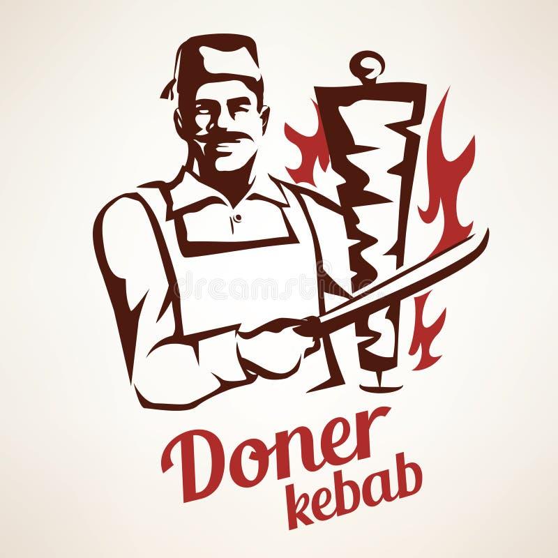 Illustration de chiche-kebab de Doner illustration libre de droits