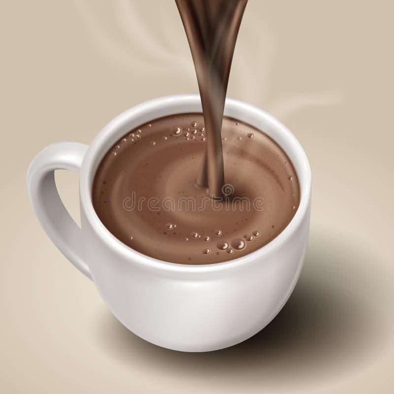 Illustration de chocolat chaud illustration libre de droits