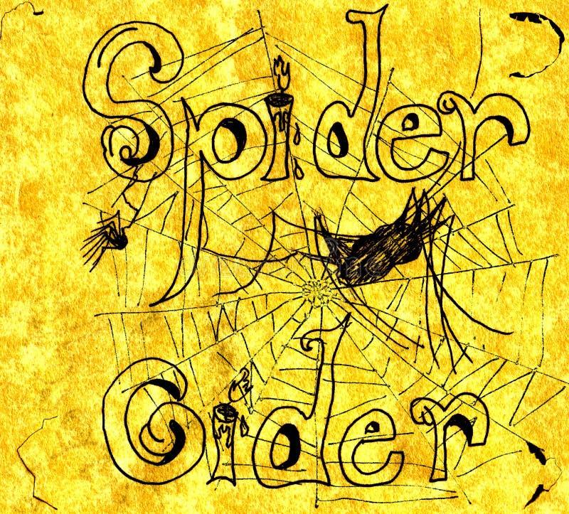Illustration de cidre d'araignée photographie stock libre de droits