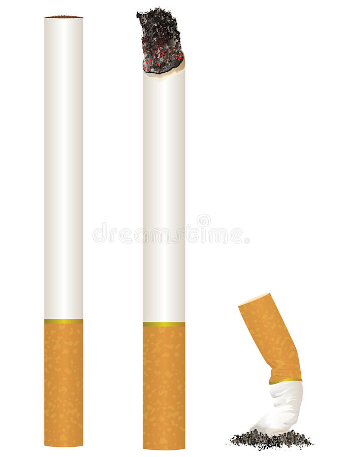 Illustration de cigarette illustration libre de droits