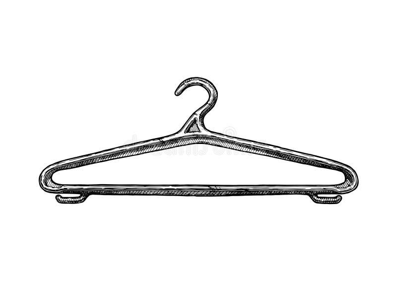 Illustration de cintre de manteau illustration de vecteur