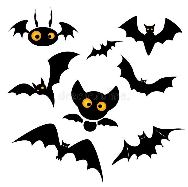 Illustration de clipart (images graphiques) de batte de Halloween illustration de vecteur