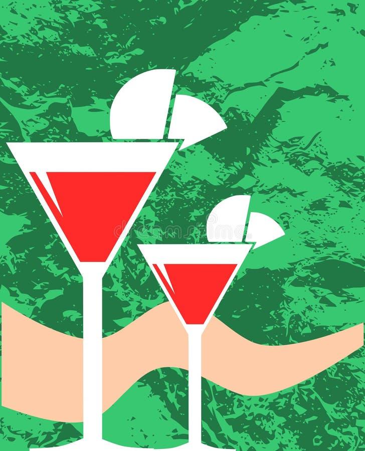 Illustration de cocktail illustration stock