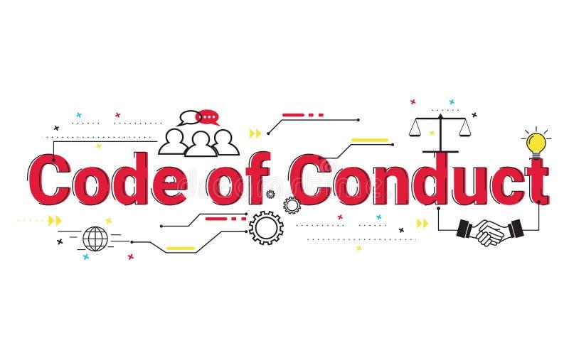 Illustration de code de conduite le concept de mots illustration libre de droits