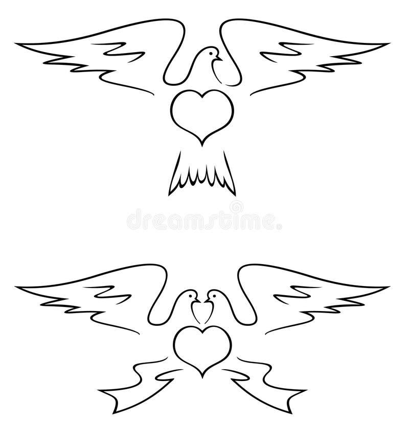 Illustration de colombes illustration libre de droits