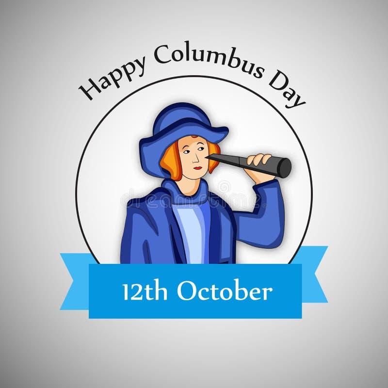 Illustration de Columbus Day Background illustration de vecteur