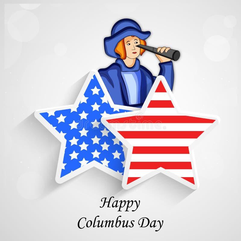 Illustration de Columbus Day Background illustration libre de droits