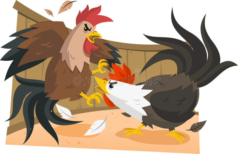 Illustration de combat de coq illustration de vecteur