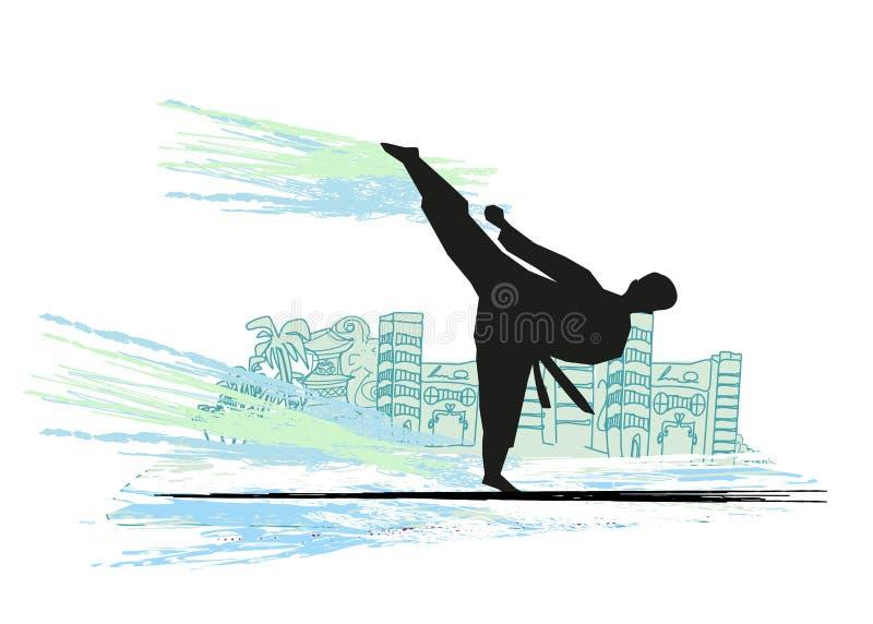 illustration de combattant de karaté illustration libre de droits